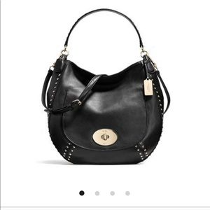 Flash sale 🎉Coach circle hobo studded bag